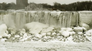 Niagara Falls pictured from Canadian side