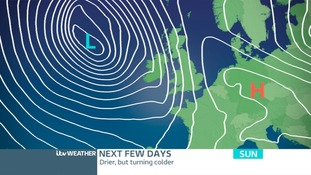 High Pressure settling things down for Saturday