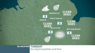 TONIGHT EAST MIDLANDS - Mist patches
