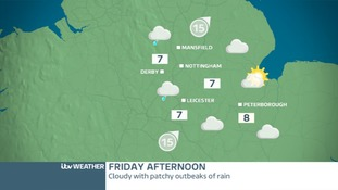 EAST MIDLANDS FRIDAY - Turning cloudy and wet