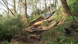 Landslip narrowly misses homes