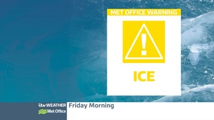 Weather warning for icy conditions