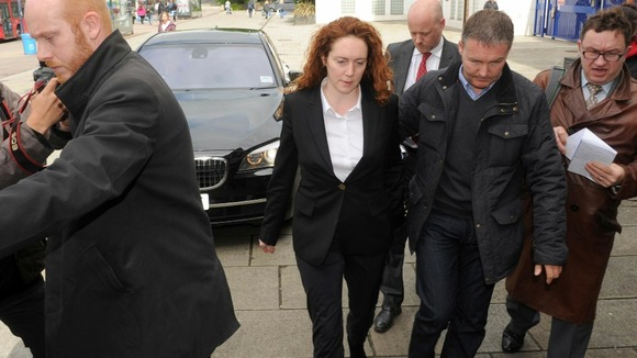Former News of the World Editor Rebekah Brooks arriving at Lewisham police station earlier this week