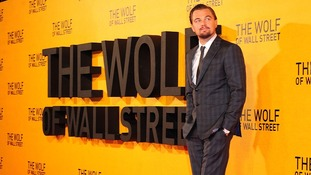 Leonardo DiCaprio at the UK Premiere of The Wolf of Wall Street in London.