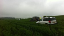 The Mini-Max plane came down in a field near Royston
