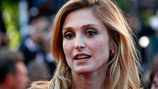 Film actress Julie Gayet.