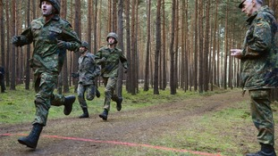 Army reservists training