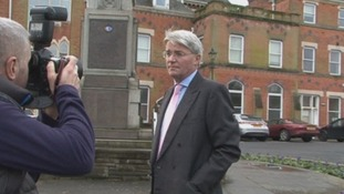 Andrew Mitchell pictured in his Sutton Coldfield constituency today.