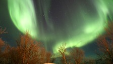 The Northern Lights pictured over Porsanger Garrison near Lakselv, Norway.