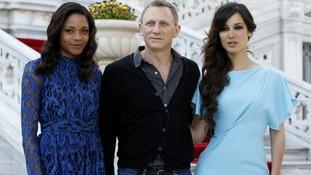 Cast members Marlohe, Craig and Harris