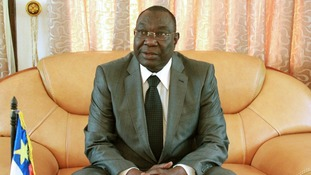 Central African Republic's former president Michel Djotodia.