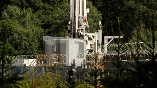 The Cuadrilla exploratory drilling site in Balcombe, West Sussex.