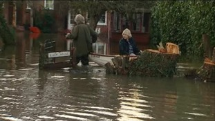 Flooding in Wraysbury.