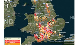 Flood warnings still in place across the south.