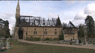 Church rises from the ashes