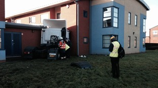 Emergency crews were called to the Leasowes Care Centre on Oldbury Road after the collision this morning.