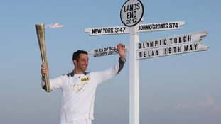 Ben Ainslie with a very special gold