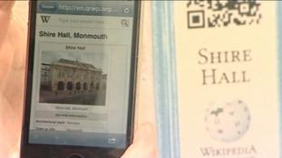 smartphone using QRpedia codes