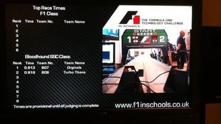 Schools compete in F1 model challenge