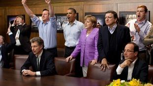 G8 watch the match