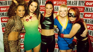 The Spice Girls pictured in 1997 at the Smash Hits Poll Winners Party.