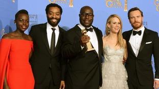 Lupita Nyong'o, Chiwetel Ejiofor, Steve McQueen, Sarah Paulson and Michael Fassbender.