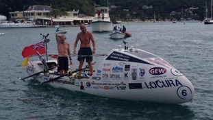 Team Locura cross the finish line in Antigua