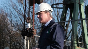 David Cameron visited a shall gas grilling plant in Lincolnshire yesterday.
