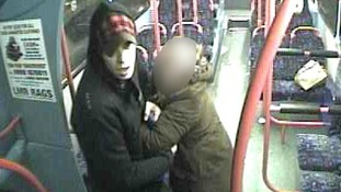 The man tried to drag the woman off the number 13 bus