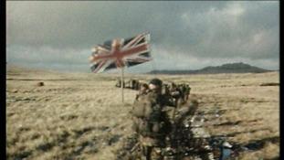 Unveiling of new Falklands memorial