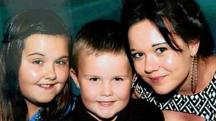 The couple's children: Keane, 6, and daughters Sian, 13, and Rhiannan, 15
