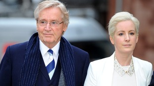 Coronation street actor Bill Roache arrives at court with daughter Verity