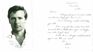 The signed photograph and letter Bill Roache is alleged to have sent a young girl