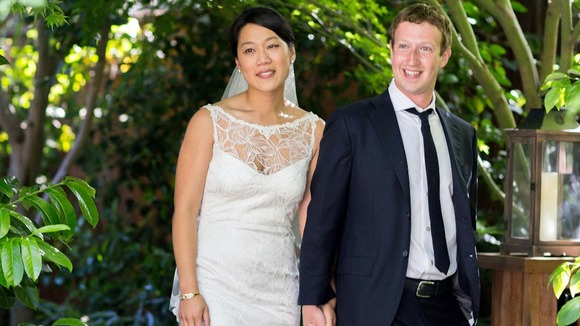 Facebook founder and CEO Mark Zuckerberg and Priscilla Chan