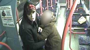 The man attempted to drag the woman off the bus at the Sandy Lane stop