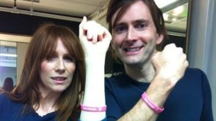 Catherine Tate and David Tennant show their support for the 'Swab for Margot' appeal
