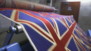 union jacks on production line