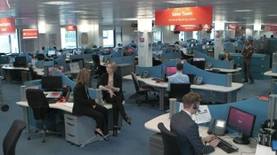 wide view of call centre