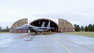 An F15 at the US airbase at Lakenheath