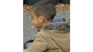 The image shows Mikaeel in the jacket he was believed to be wearing when he disappeared.