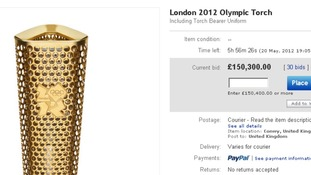 eBay page with torch
