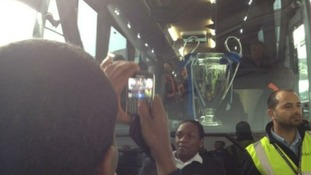 Staff at Heathrow have been taking pictures of themselves next to the cup