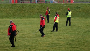 Volunteers helping in the search for missing three-year old Mikaeel Kular
