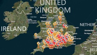 The Environment Agency's live flood warning map.