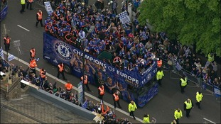 Chelsea parade through west London following their Champions League win