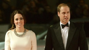 Prince William and Kate in evening wear at the premiere of Mandela: Long Walk to Freedom in London.