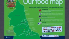Regional school meals map