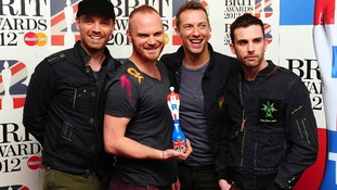 Jonny Buckland, Will Champion, Chris Martin and Guy Berryman of Coldplay