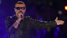 George Michael performs at the London 2012 Olympics Closing Ceremony.