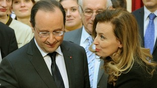 Francois Hollande and Valerie Trierweiler pictured on January 8.